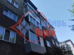 Остекление балкона с выносом по парапету фото