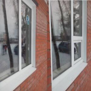Установка створки в глухую часть окна в Омске от Сибирь Окно