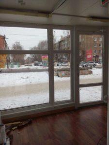 Входная пластиковая дверь Омск фото