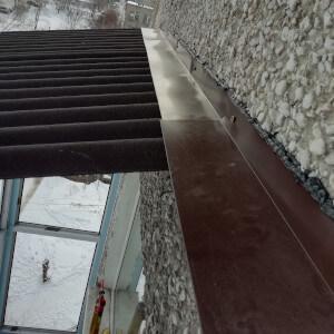 Пример крыши на балконе фото