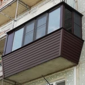 Пример наружной отделки балкона фото
