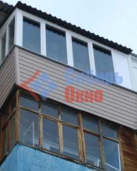 Остекление балкона с крышей в хрущевке фото
