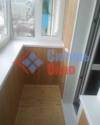 Обшивка балкона ламинированными панелями ПВХ фото