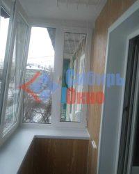 Отделка балкона с сушилкой фото