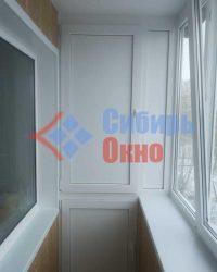 Шкаф ПВХ на балконе с выносом фото