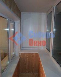 Отделка балкона с выносом в Омске фото