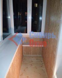 Отделка балкона ламинированными панелями дуб натуральный фото