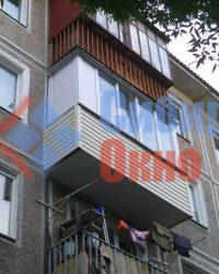 Остекление балкона с сайдингом фото
