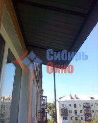 Козырек балкона в Омске фото