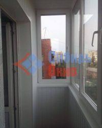 Балкон отделанный вагонкой ПВХ фото