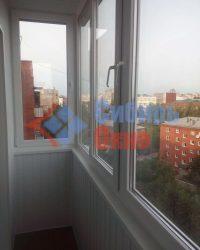 Вагонка ПВХ на балконе фото