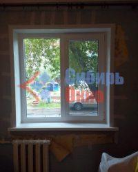 Установка 2-х створчатого окна в Омске от Сибирь Окно