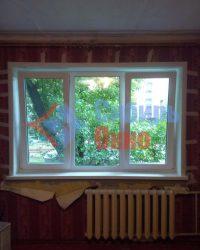 Установка 3-х створчатого окна в Омске от Сибирь Окно