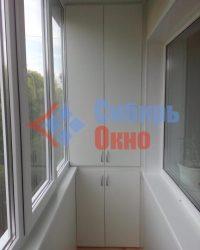Шкаф из ЛДСП на балконе фото