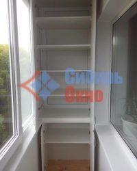 Шкаф ЛДСП на балконе до потолка фото