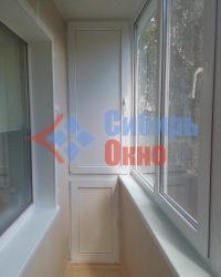 Шкаф ПВХ на балконе фото