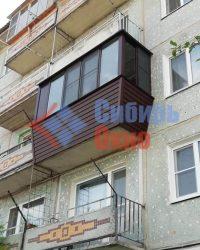 Балкон с выносом на две стороны фото