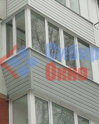 Балкон с выносом по подоконнику фото