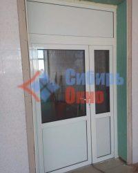 Установка дверей из алюминия в Омске от Сибирь Окно