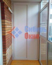 Шкаф на лоджии в Омске фото